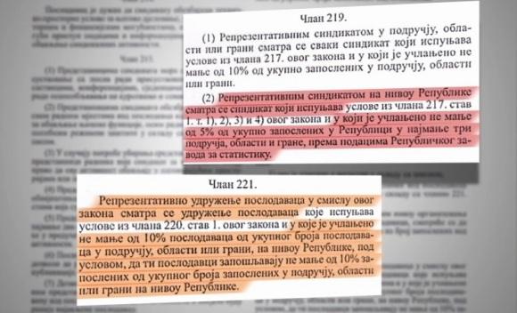 Sindikalci testiraju ustavnost Zakona o radu Srpske