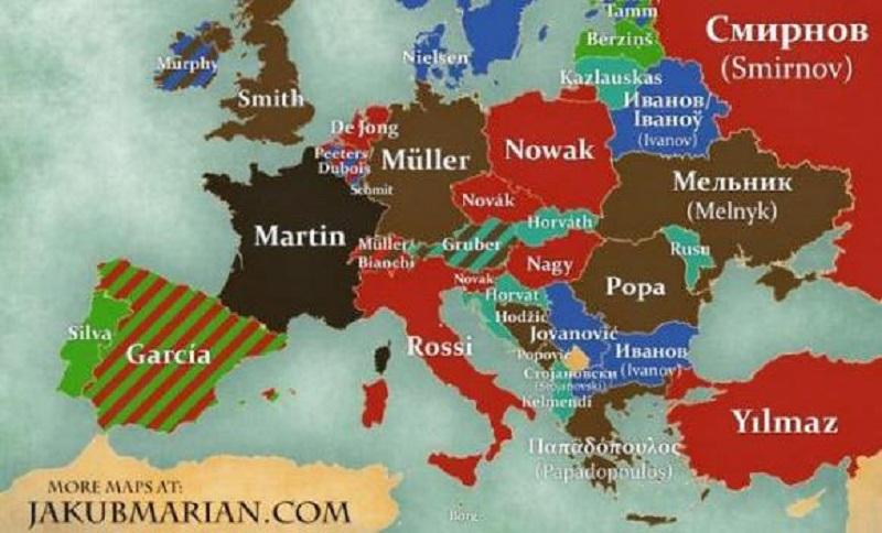Karta najčešćih prezimena: Evo koje je najpopularnije u BiH