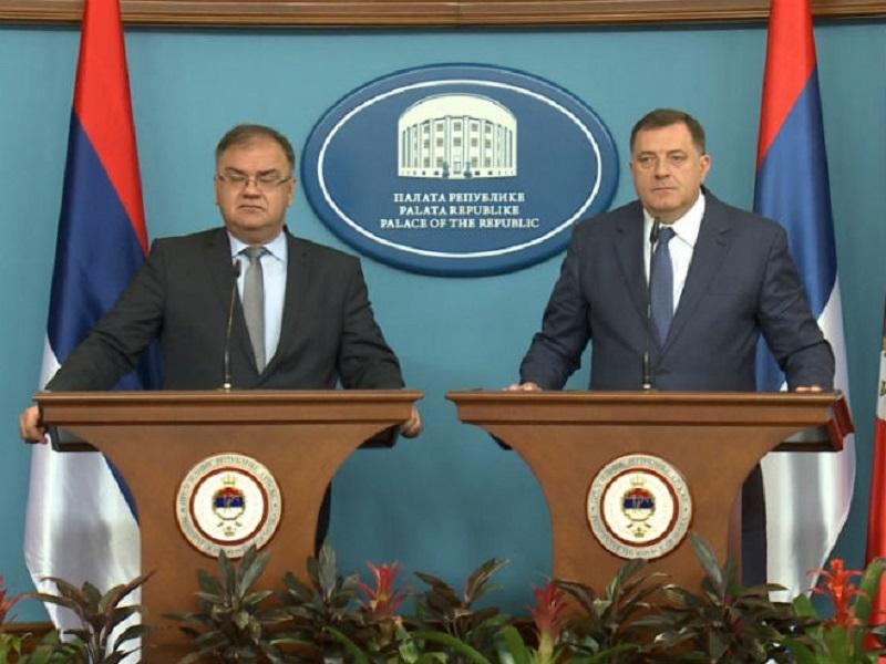 Dodik i Ivanić: Održavanje referenduma o Danu Republike neophodno