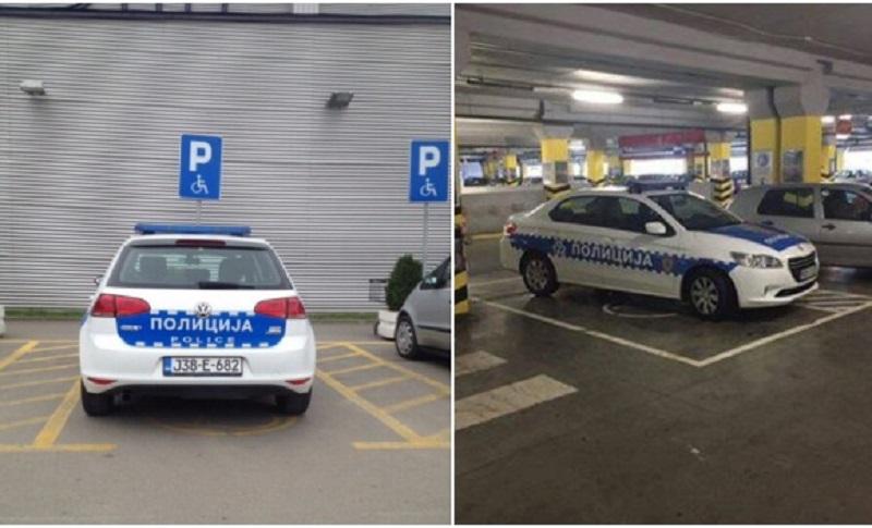 Banja Luka: Kažnjen policajac koji je parkirao automobil na mjesto za invalide