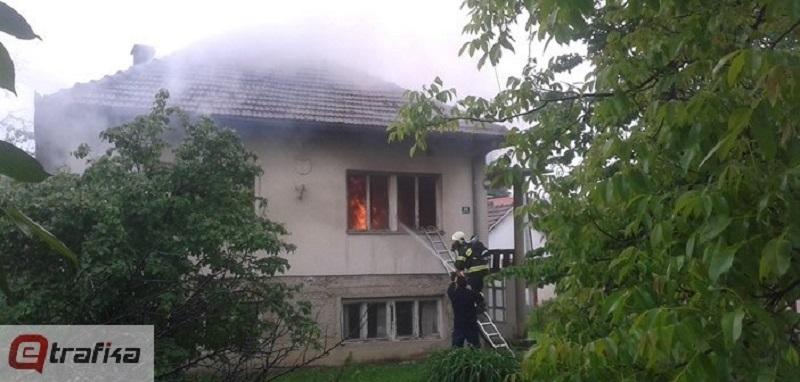 Banja Luka: Požar u kući kod stadiona FK Naprijed