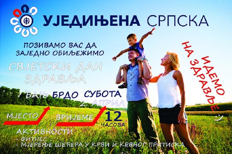 Ujedinjena Srpska obilježava Svjetski dan zdravlja