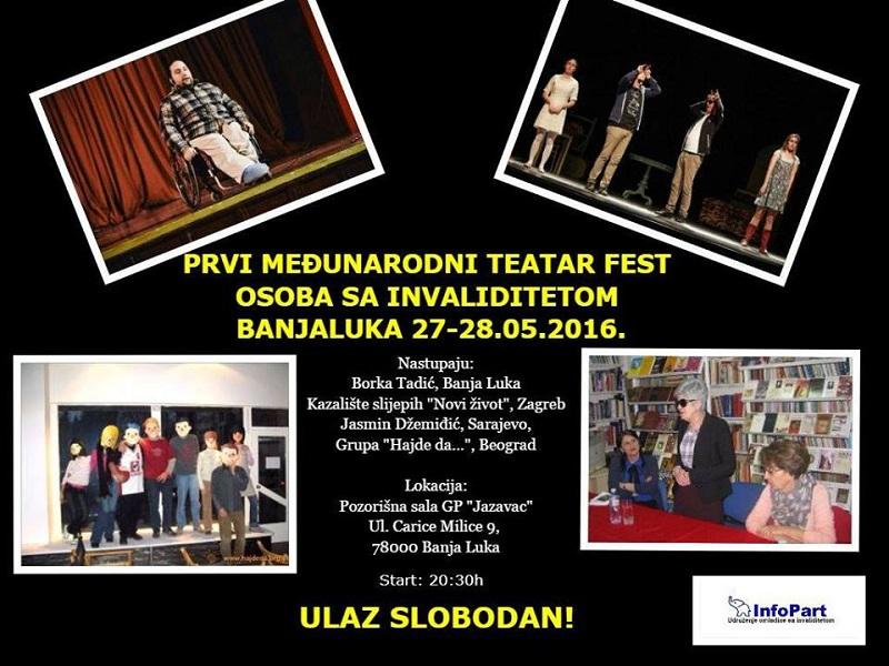 Banja Luka: Krajem maja Prvi međunarodni teatar fest osoba sa invaliditetom