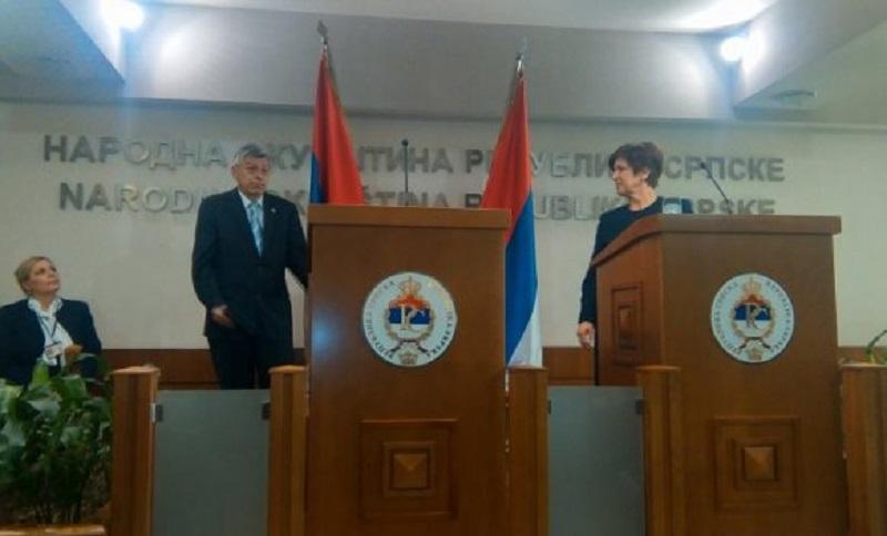 Predsjednik hrvatskog parlamenta odbio da da izjavu novinarima u NSRS