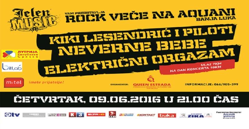 Rok veče na Akvani: Kiki Lesandrić, Neverne bebe i Električni orgazam (UŽIVO NA KONTAKT RADIJU)