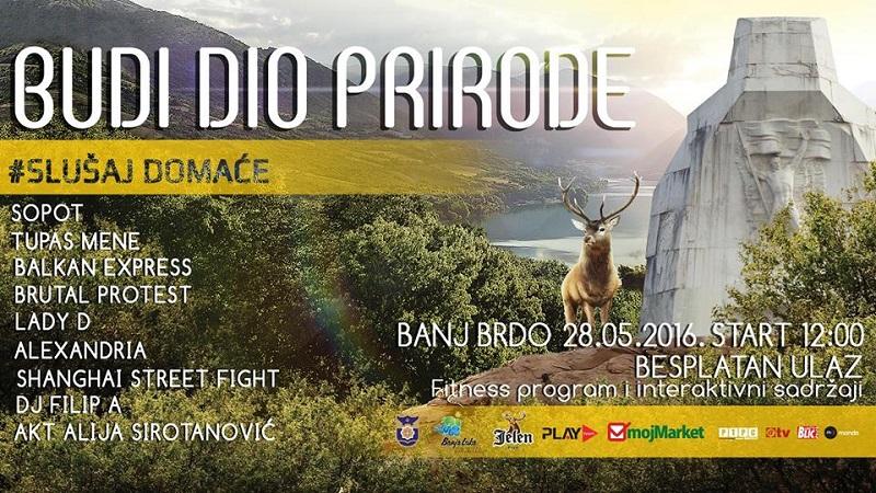 """Cjelodnevna žurka u subotu na Banj brdu: """"Budi dio prirode, slušaj domaće"""""""