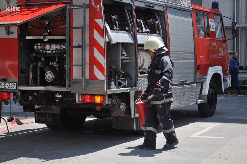 Požar na zgradi BH Telecoma