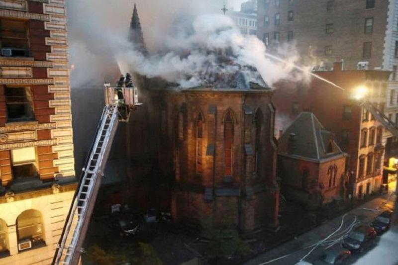 Vatra progutala srpsku pravoslavnu crkvu na Menhetnu