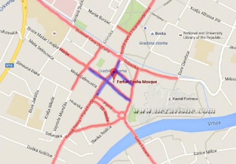 Ulice, parkinzi i lokali koji će biti zatvoreni zbog otvaranja Ferhadije