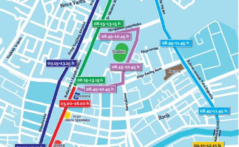 Banja Luka: Pogledajte u kojim ulicama će sutra biti obustavljen saobraćaj i kada