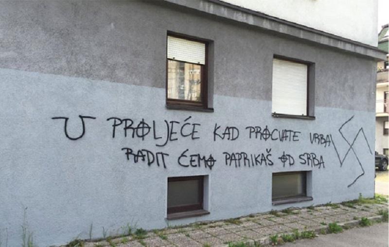 U Zagrebu ponovo osvanuli uznemirujući grafiti