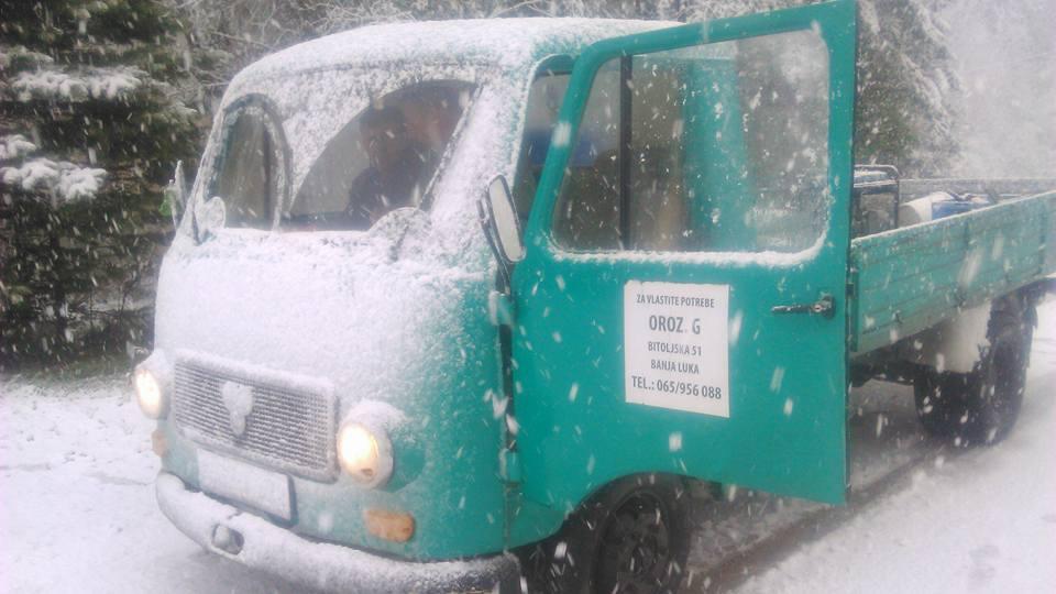 Snijeg na Oštrelju, 100 km od Banjaluke