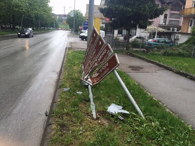 Banja Luka: Neko je opet uništavao saobraćajne znakove