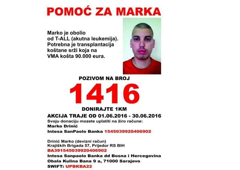 Pomozimo Marku Driniću iz Prijedora