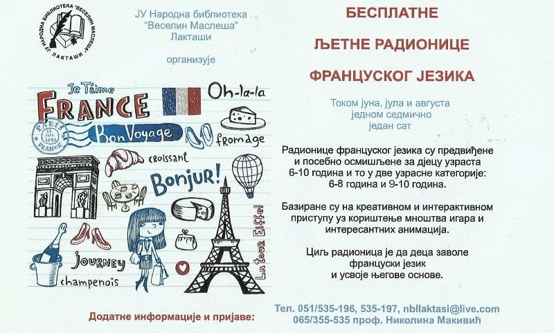 Besplatne radionice francuskog jezika