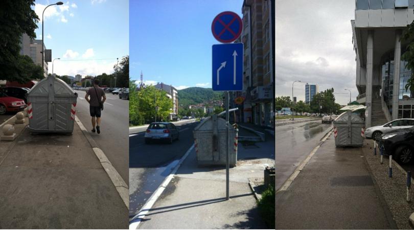 "Glas naroda: Ko je nadležan za ""nepropisno parkirane"" kontejnere u Banjaluci?!"