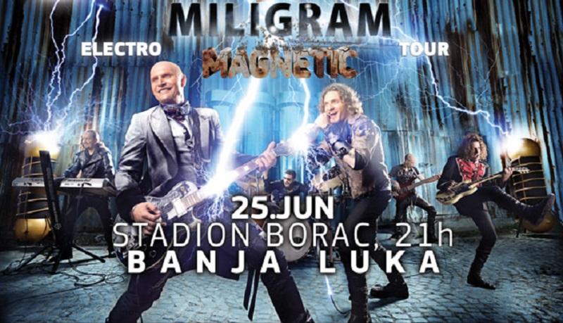 "Banjaluka- Večeras koncert grupe ""Miligram"""