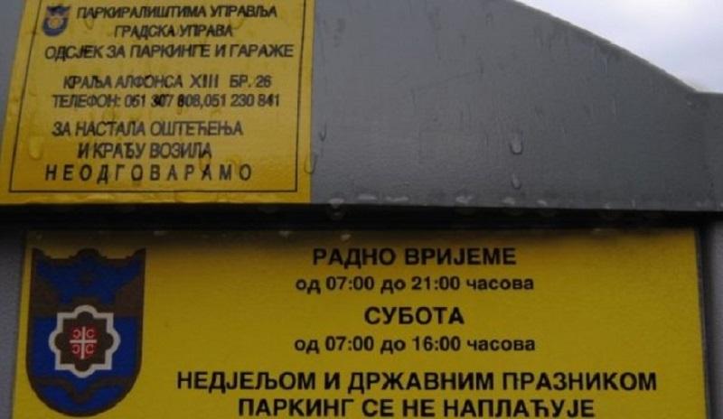 Banja Luka: Plaćanje parkinga SMS porukom omogućeno i putem drugih mobilnih operatera