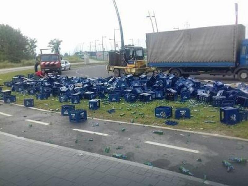 Pivo ispalo iz kamiona
