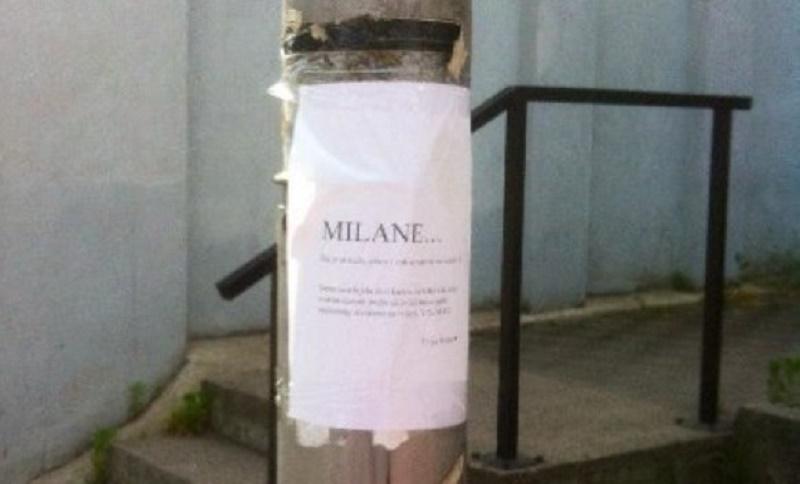 Banjaluka: Ljubavnu poruku za Milana okačila na stub