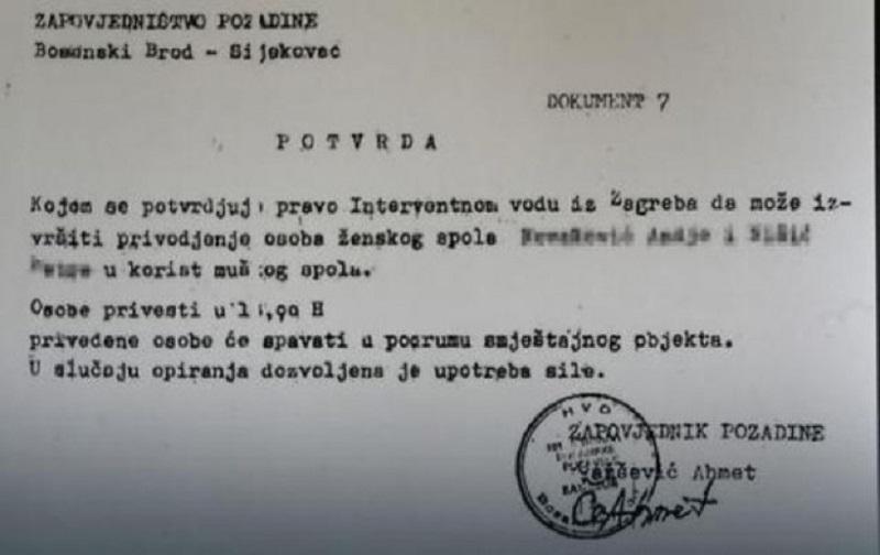"""HVO u Sijekovcu izdavao """"potvrde za silovanje Srpkinja"""""""
