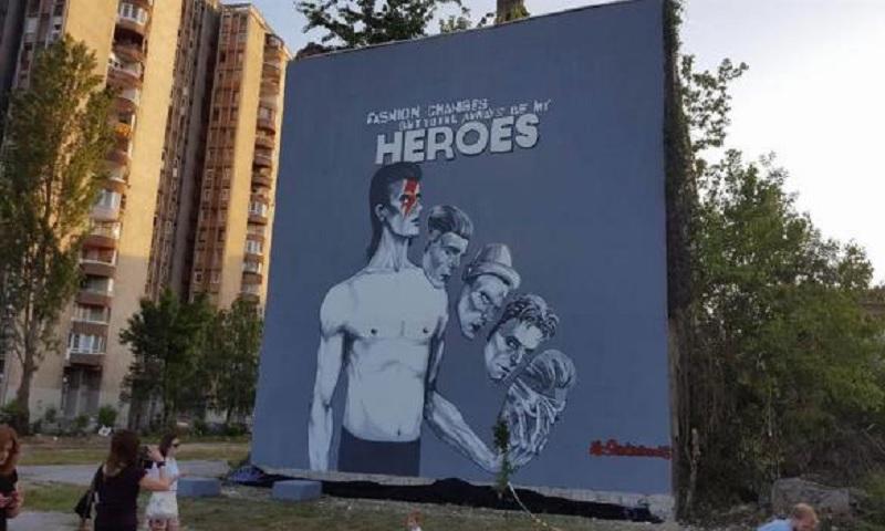 Sarajevo: Ruše mural Dejvida Bouvija, najveći na svijetu