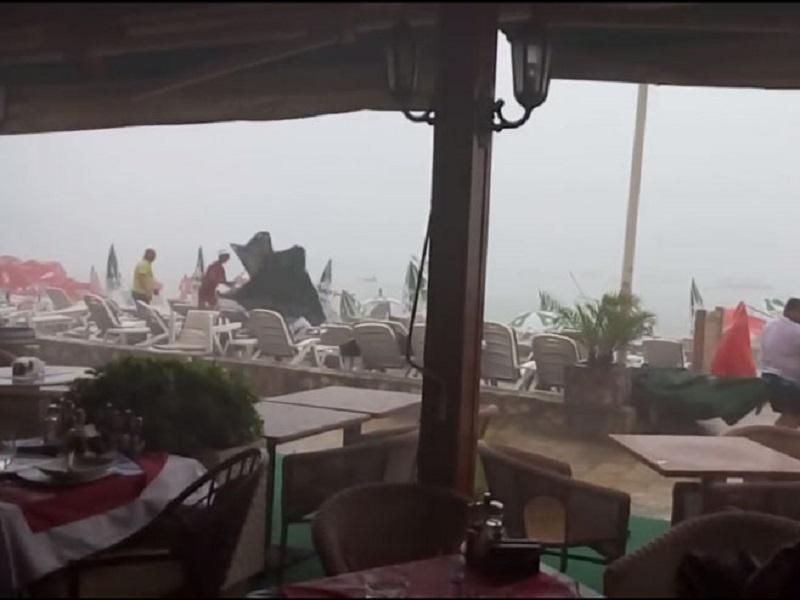 Oluja pogodila budvansku rivijeru (VIDEO)