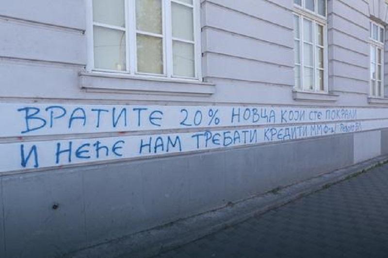 Grafit u Banjaluci: Vratite 20% novca koji ste pokrali i neće nam trebati krediti MMF-a