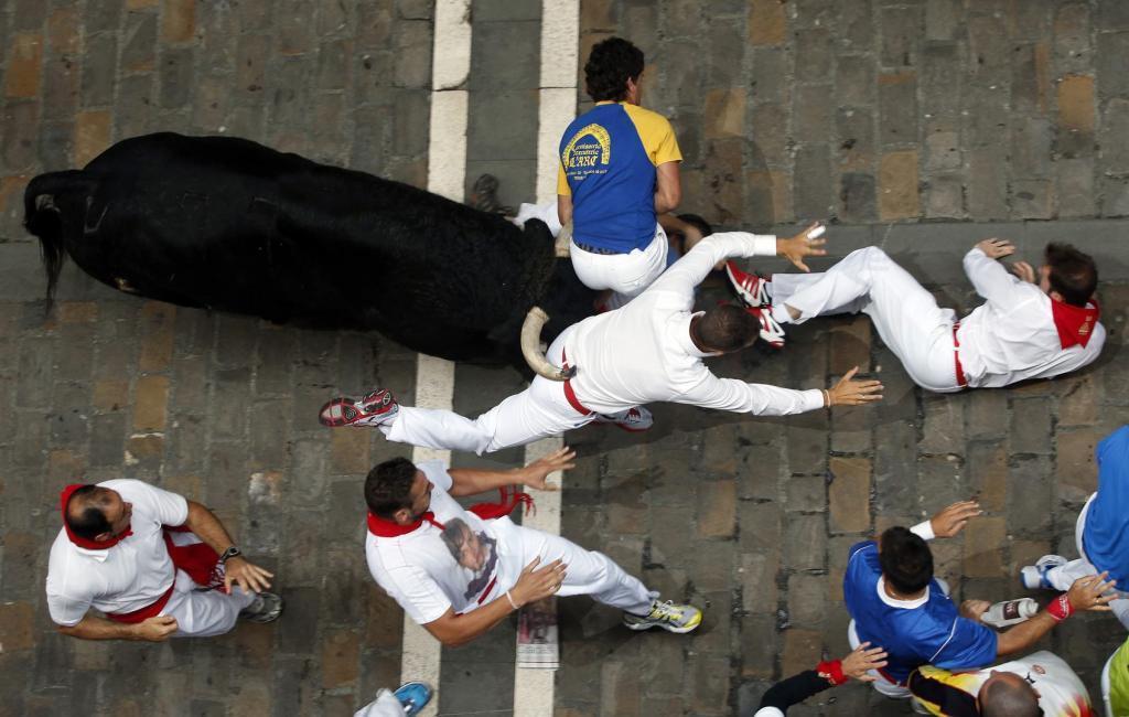 Pamplona: U bježanju pred bikovima petoro povrijeđenih