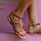 Pom-pom sandale: veseli modeli koji će privući pažnju