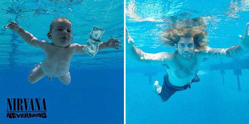 """Beba sa Nirvaninog omota za album """"Nevermind"""": Rimejk poznate fotografije nakon 25 godina"""