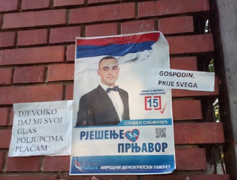Kandidat koji glasova plaća poljupcima