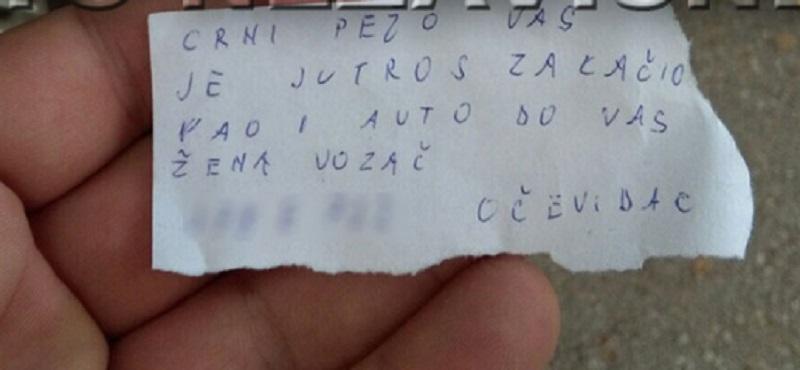 Banja Luka: Žena vozač oštetila tuđi automobil pa napisala ceduljicu