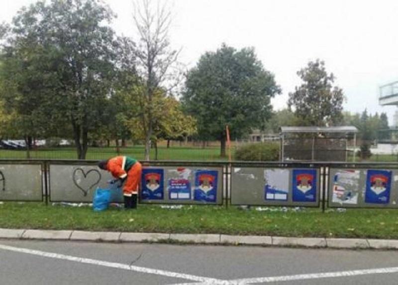 Banja Luka: Komunalci uklanjaju plakate
