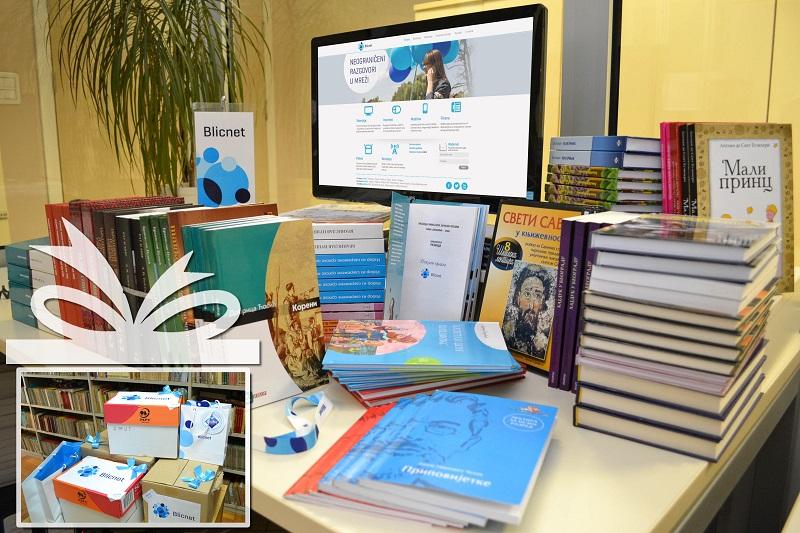Blicnet poklonio nove knjige Narodnoj biblioteci u Kneževu
