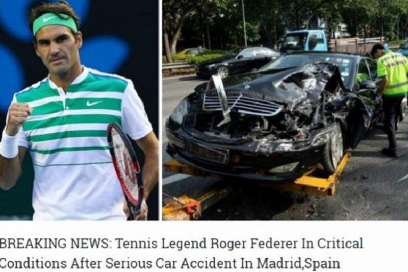 Izmislili da je Federer teško povrijeđen u saobraćajnoj nesreći