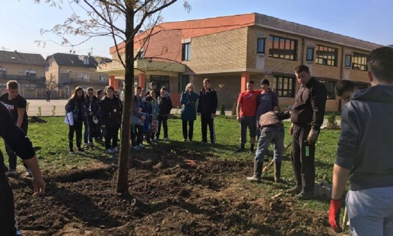 Banja Luka: Bivši i sadašnji učenici uređuju školsko dvorište
