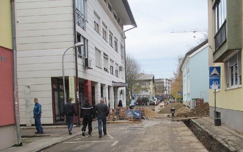 Banja Luka Radovi u Grčkoj ulici – usporen saobraćaj