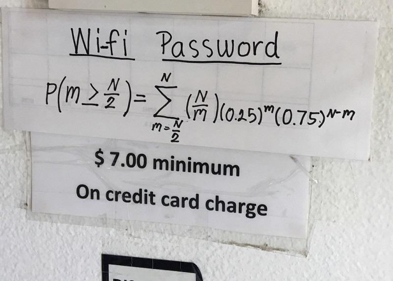 Samo ako riješite jednačinu dobijate šifru za Wi-Fi