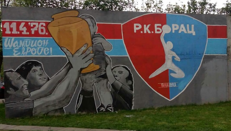 Banjaluka: Grafit posvećen šampionima Evrope