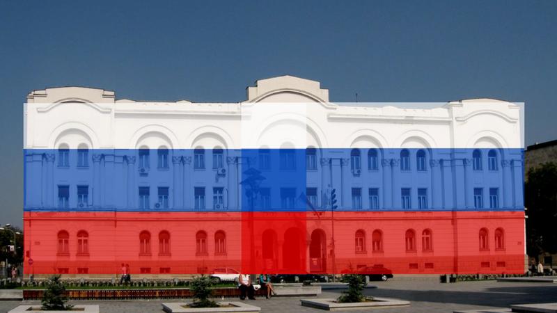 Banski dvor nije mijenjao boju zbog Rusije, na društvenim mrežama nije bilo podrške za Ruse.