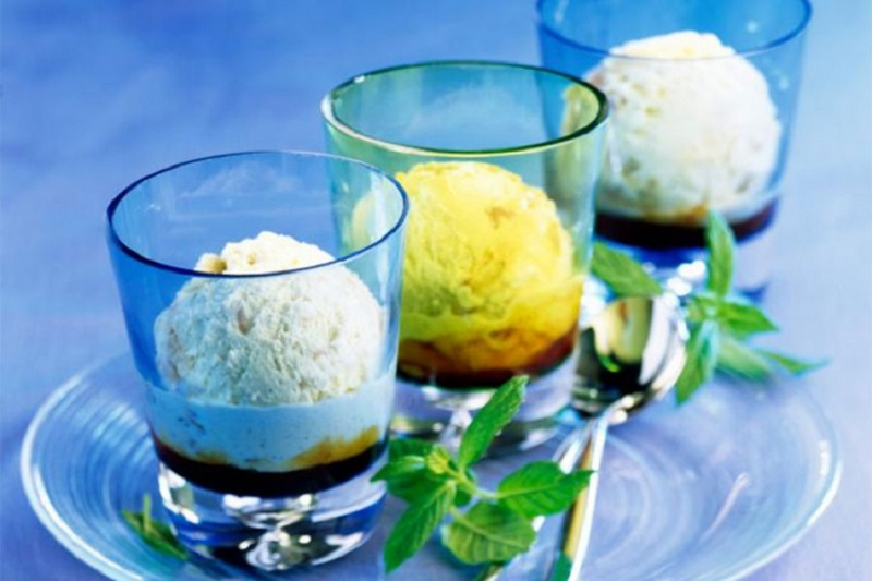 Sladoled od povrća s ukusom cvekle, krastavca i nane