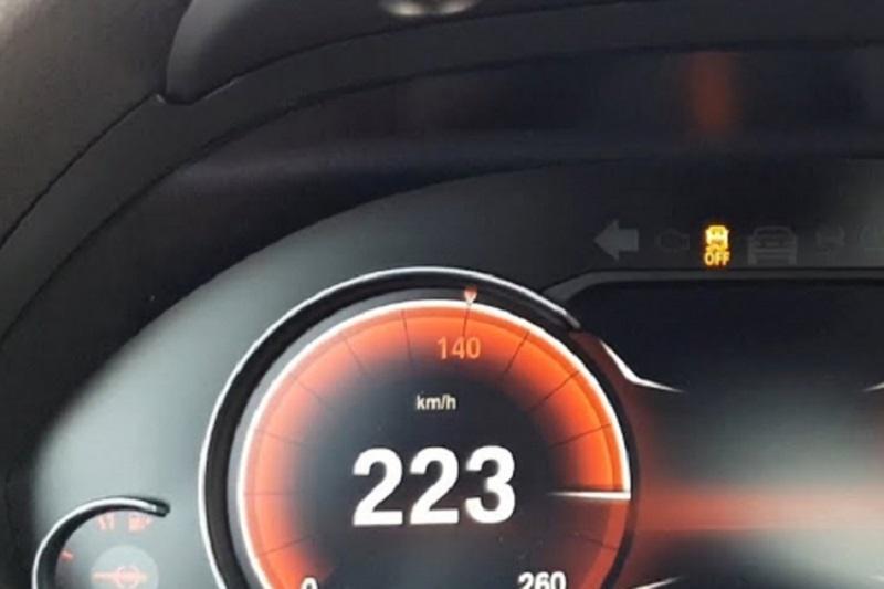 Vozio 223 km/h na mjestu gdje je ograničenje 50