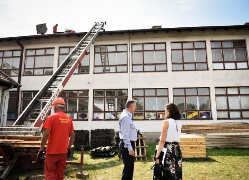 Radovi u punom jeku: 140.000 KM za sanaciju krova Tehničke škole