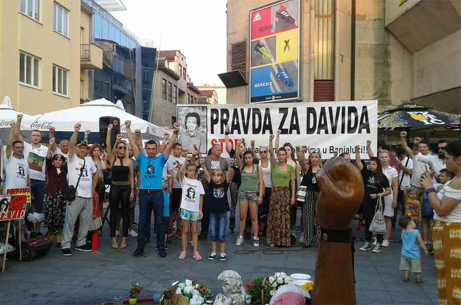 """134. okupljanje """"Pravda za Davida"""" na Trgu Krajine"""
