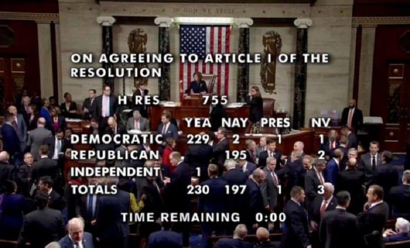 Američki kongres opozvao Trampa, odluku o smjeni donosi Senat