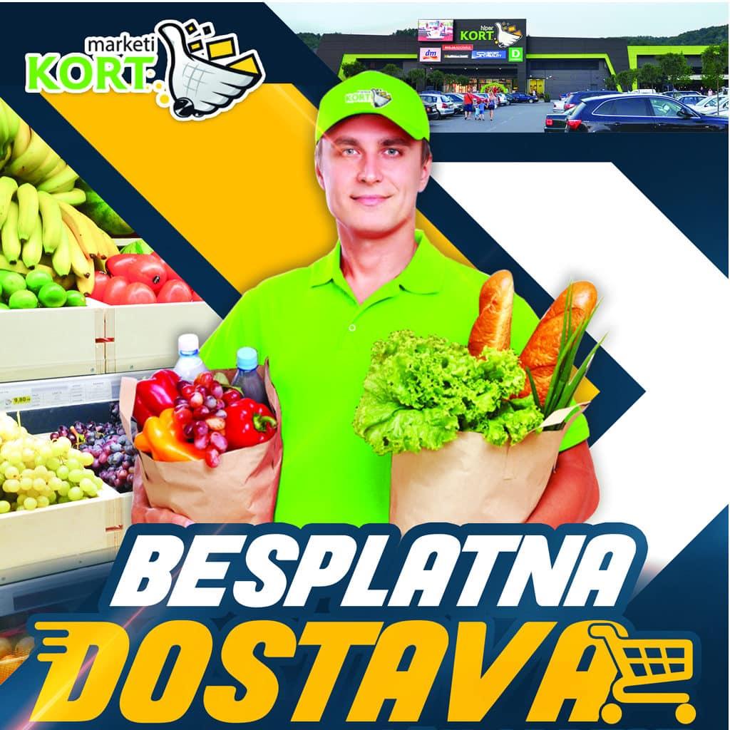 KORT marketi besplatno dostavljaju namirnice svim kupcima