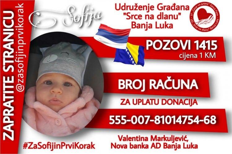 """""""Za Sofijin prvi korak"""" pozovite 1415"""