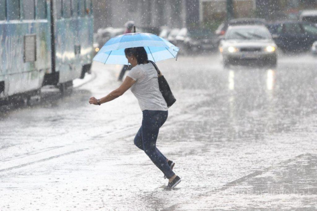 Kiša, pljuskovi i grmljavina, do 19 stepeni