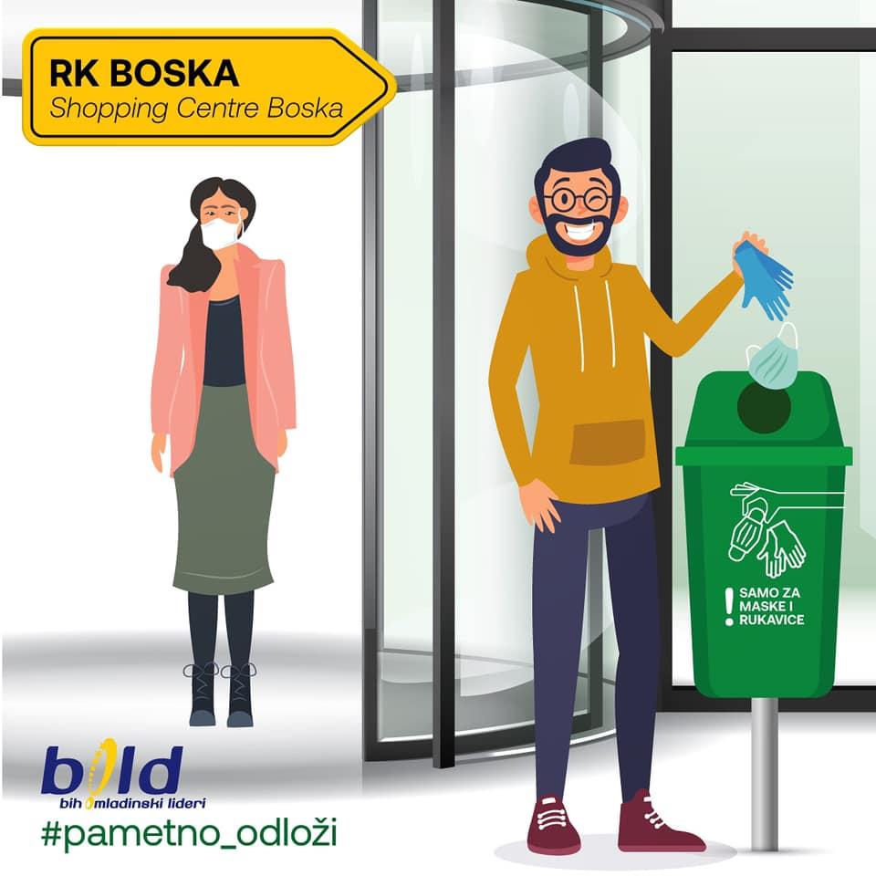 Maske i rukavice u posebne korpe, projekat mladih Banjalučana za čistiji grad